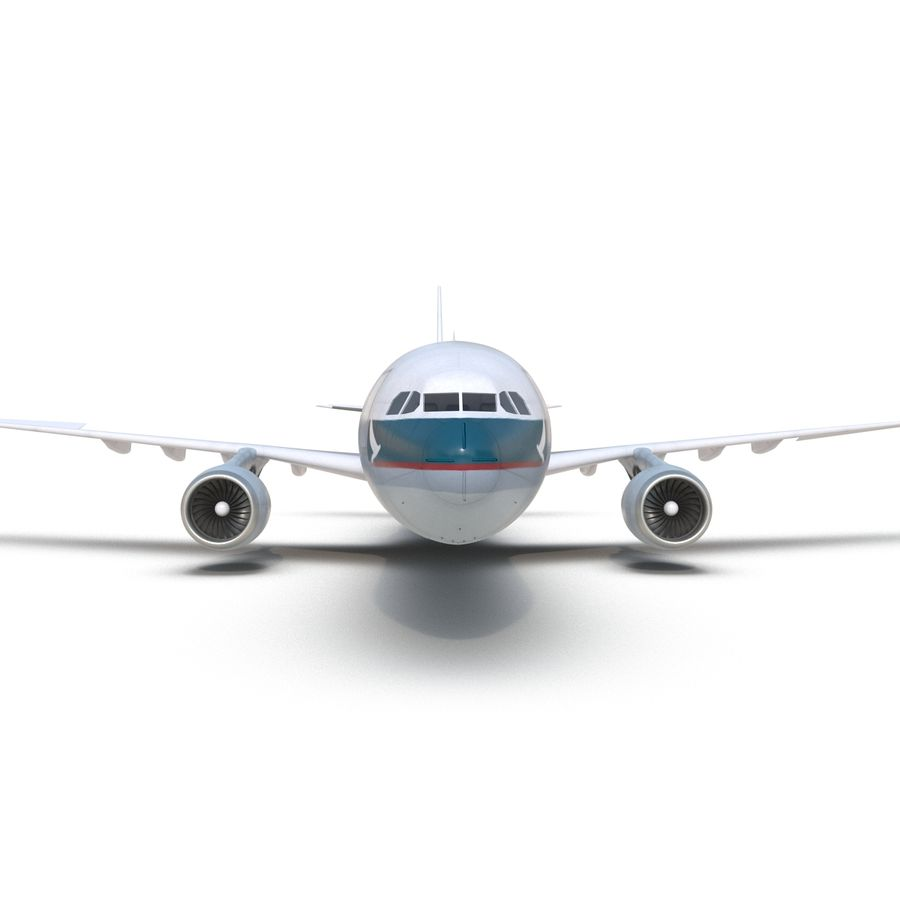 Jet Uçağı Airbus A330-300 Cathay Pacific royalty-free 3d model - Preview no. 24