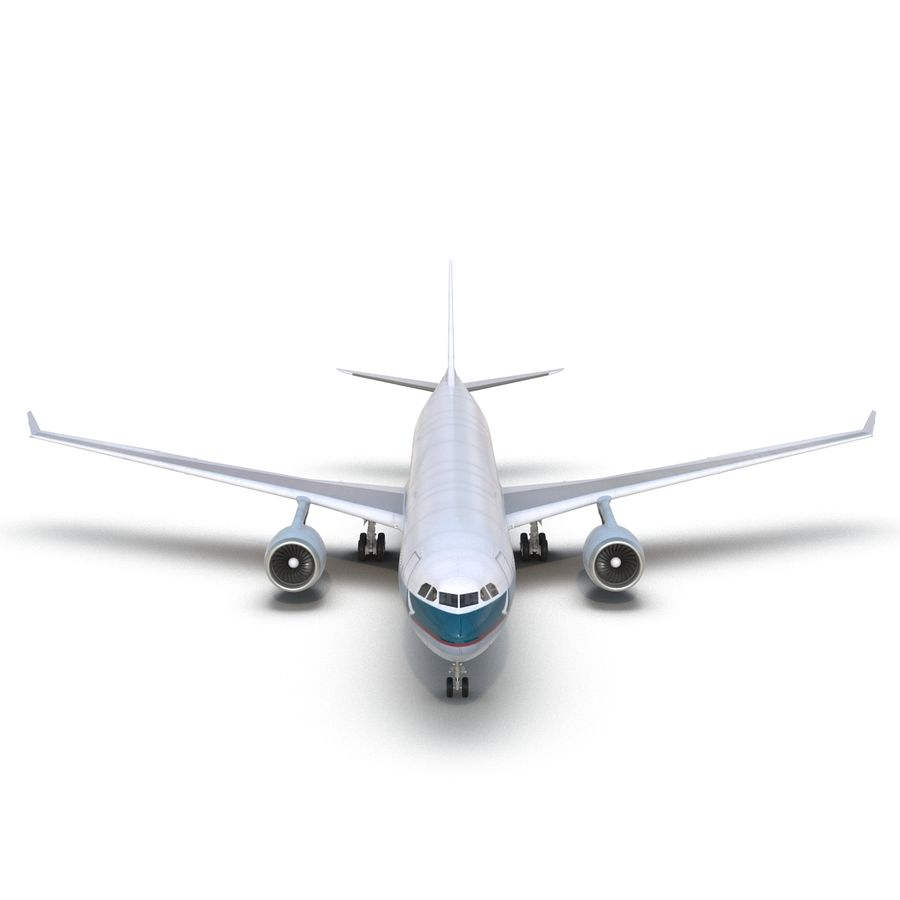 Jet Uçağı Airbus A330-300 Cathay Pacific royalty-free 3d model - Preview no. 18