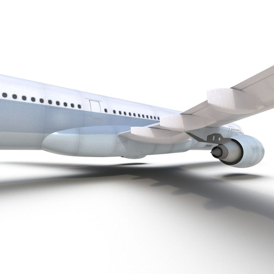 Jet Uçağı Airbus A330-300 Cathay Pacific royalty-free 3d model - Preview no. 34