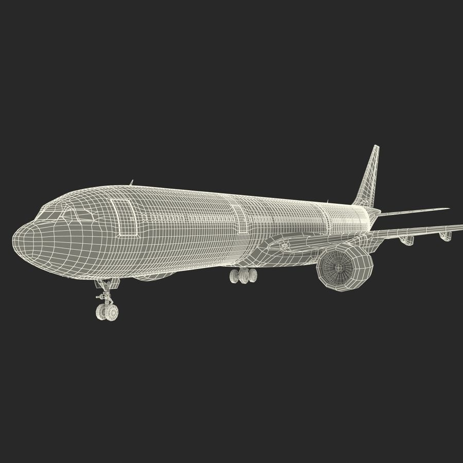 Jet Uçağı Airbus A330-300 Cathay Pacific royalty-free 3d model - Preview no. 44