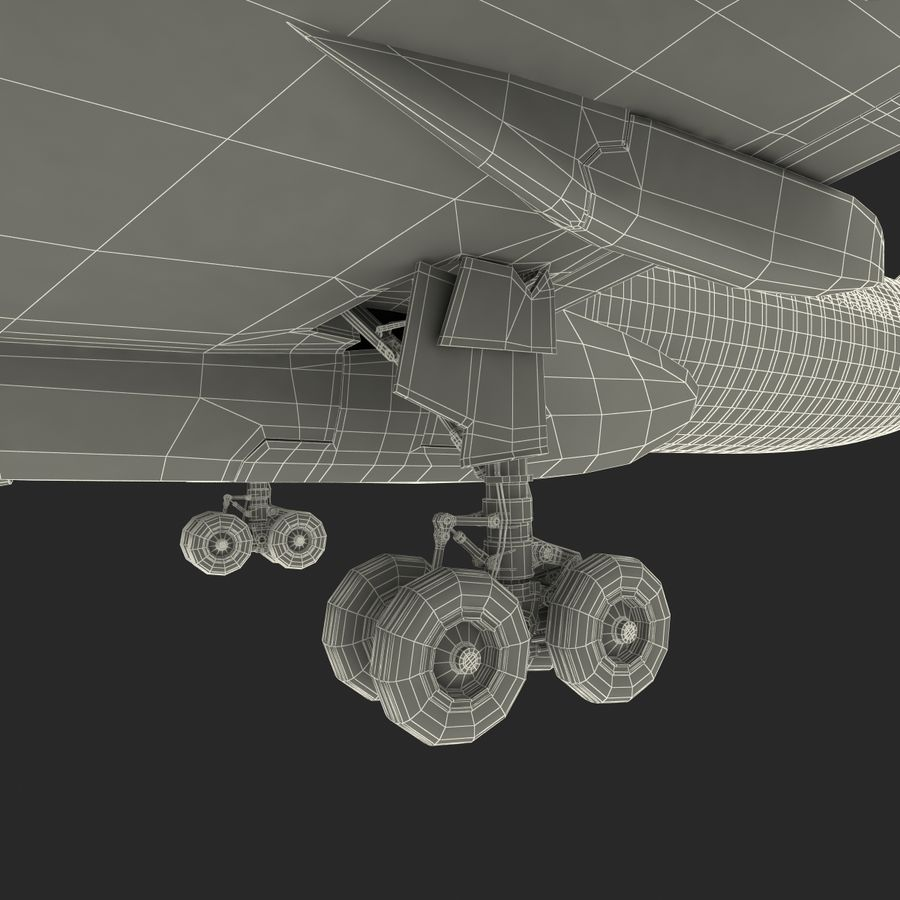Jet Uçağı Airbus A330-300 Cathay Pacific royalty-free 3d model - Preview no. 48