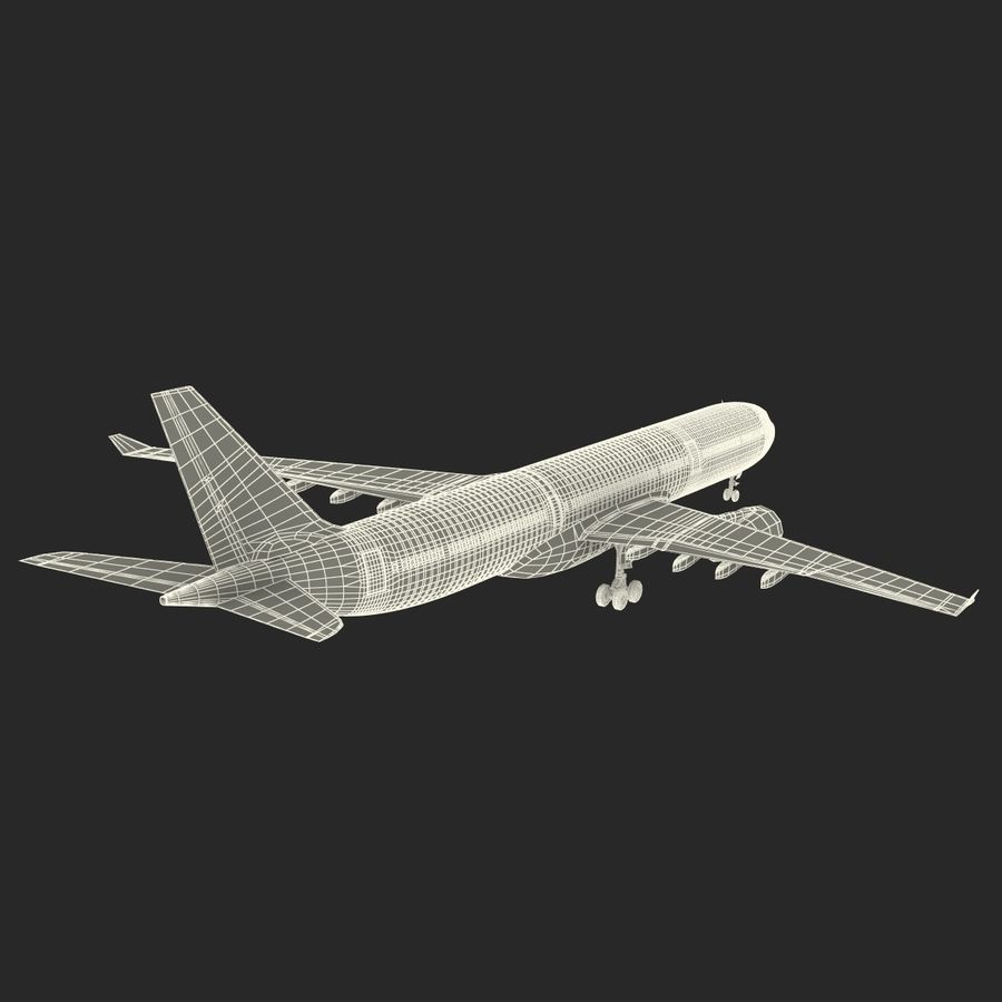 Jet Uçağı Airbus A330-300 Cathay Pacific royalty-free 3d model - Preview no. 43