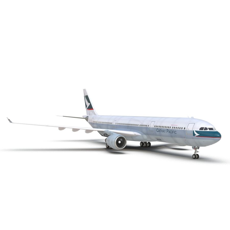 Jet Uçağı Airbus A330-300 Cathay Pacific royalty-free 3d model - Preview no. 21
