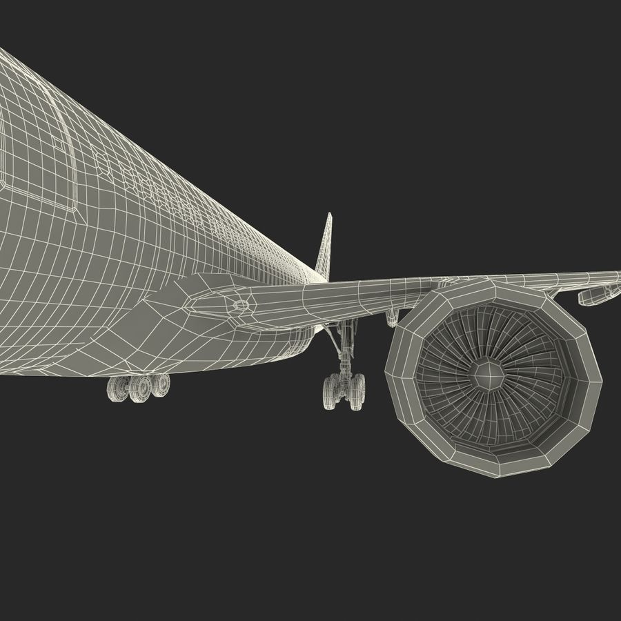 Jet Uçağı Airbus A330-300 Cathay Pacific royalty-free 3d model - Preview no. 47