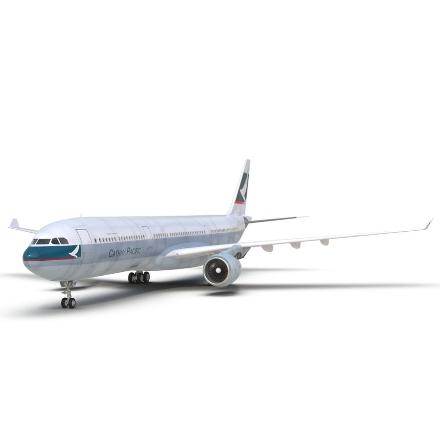 Jet Uçağı Airbus A330-300 Cathay Pacific royalty-free 3d model - Preview no. 19