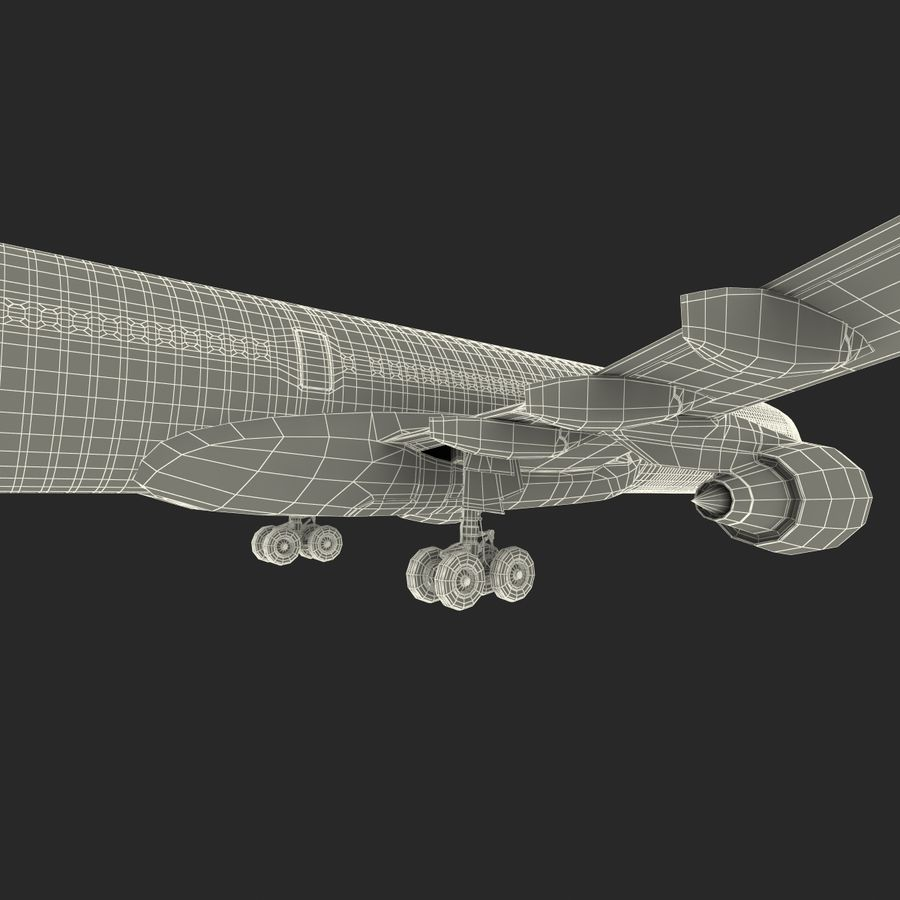 Jet Uçağı Airbus A330-300 Cathay Pacific royalty-free 3d model - Preview no. 46