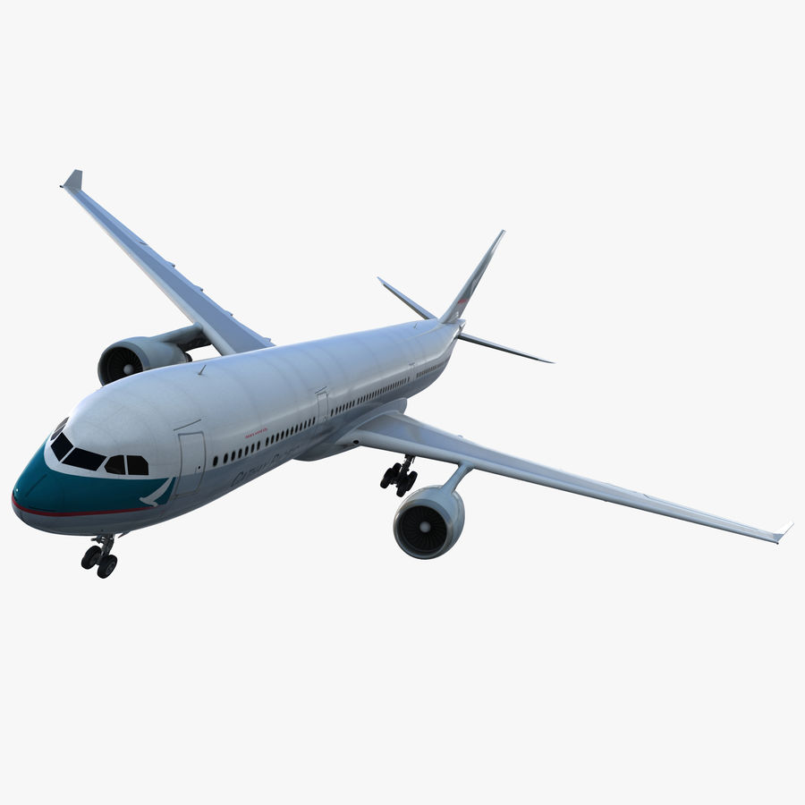 Jet Uçağı Airbus A330-300 Cathay Pacific royalty-free 3d model - Preview no. 1