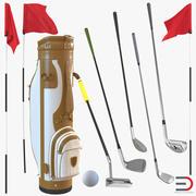골프 장비 컬렉션 3d model