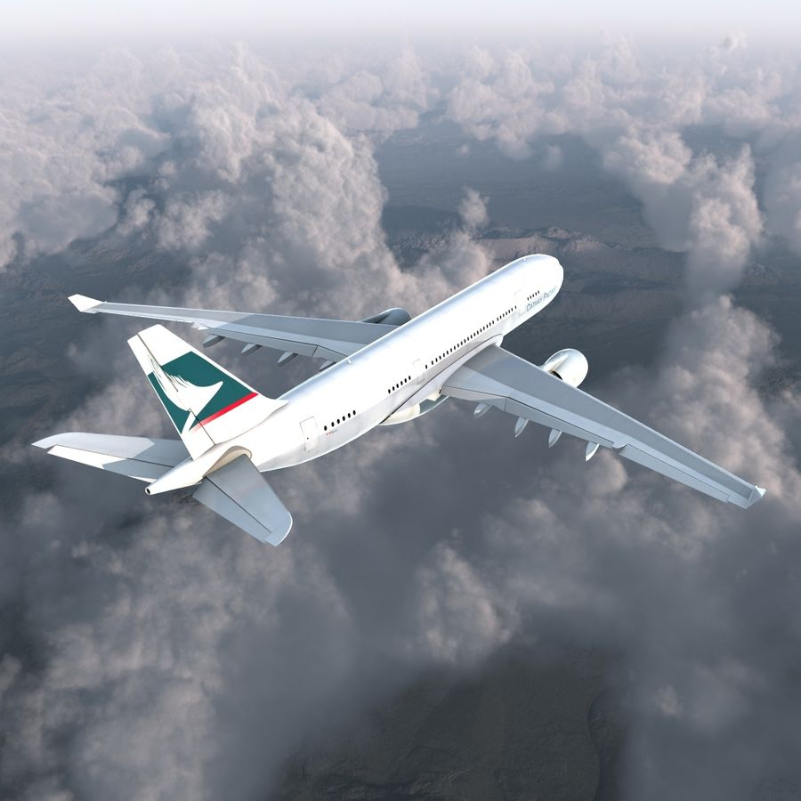 Airbus A330 P2F Cathay Pacific Arma royalty-free 3d model - Preview no. 7