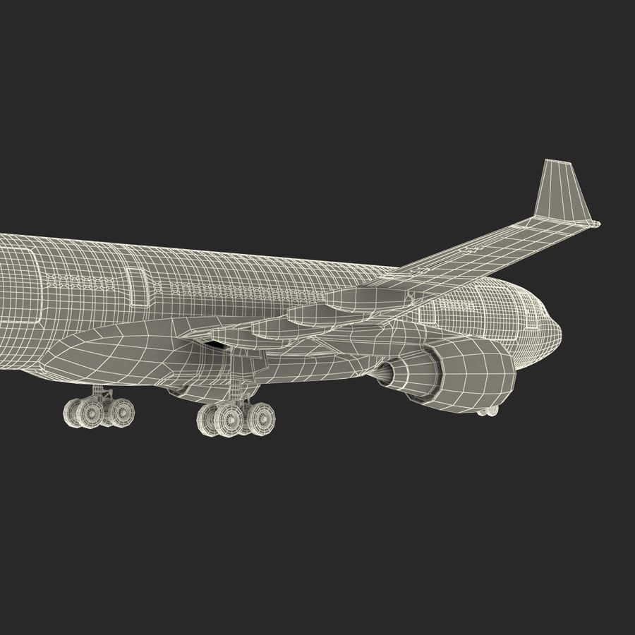 Airbus A330 P2F Cathay Pacific Arma royalty-free 3d model - Preview no. 47