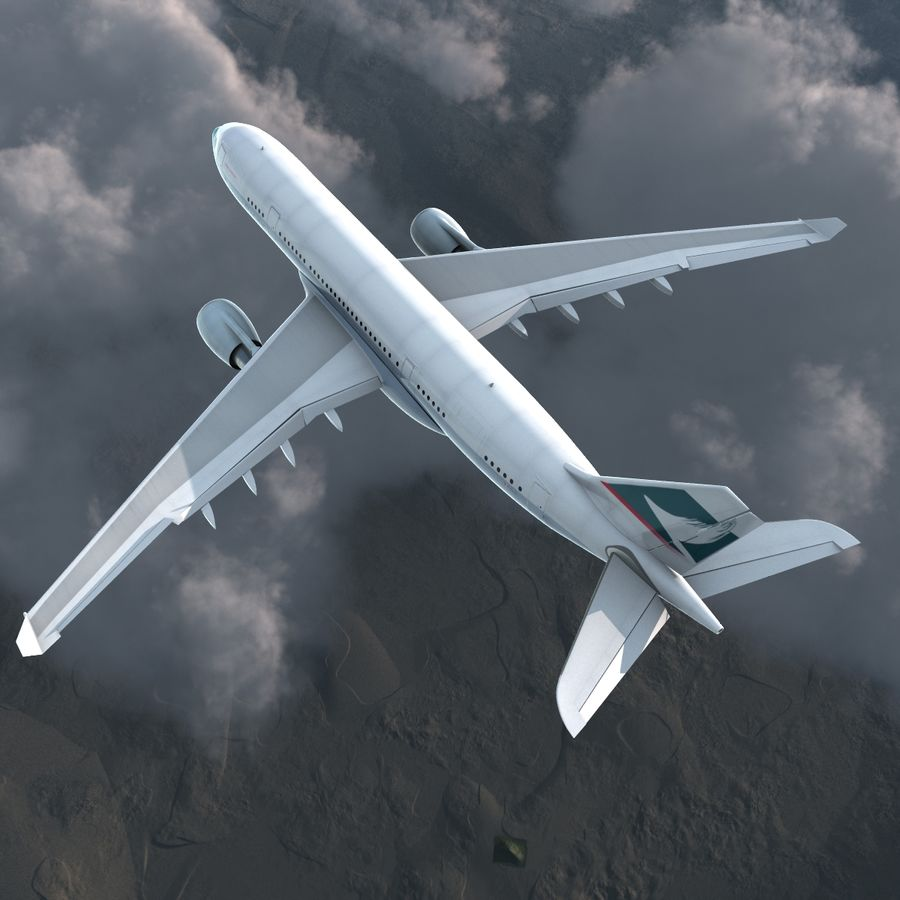 Airbus A330 P2F Cathay Pacific Arma royalty-free 3d model - Preview no. 8