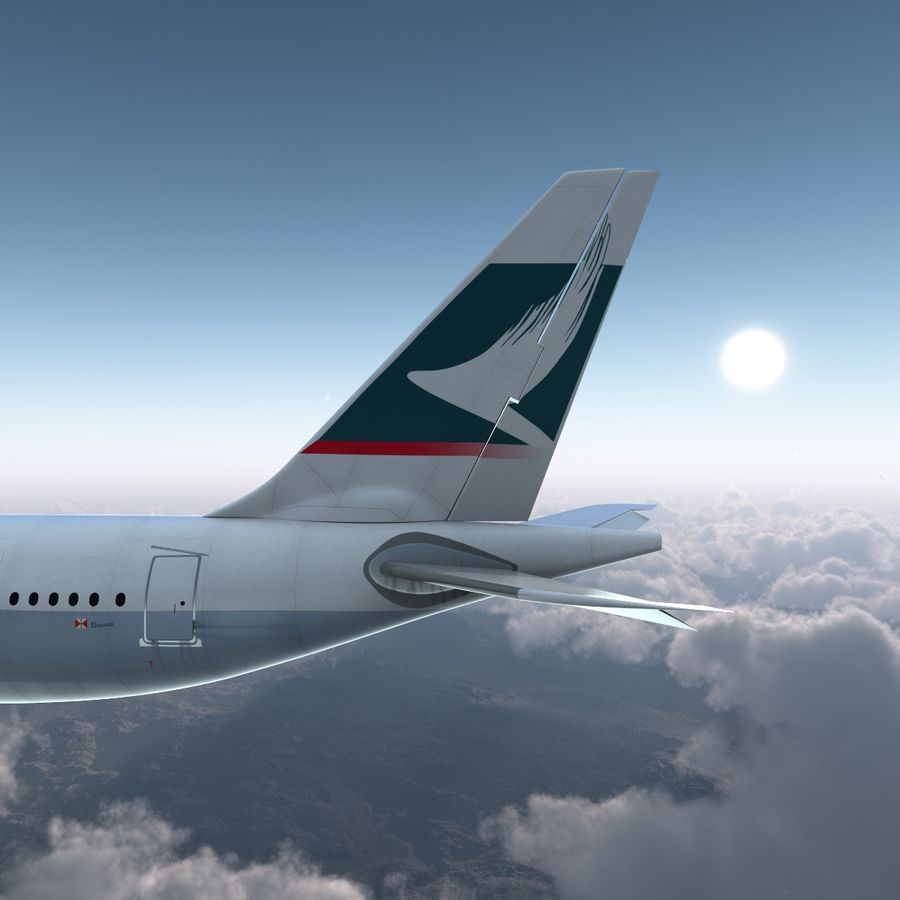Airbus A330 P2F Cathay Pacific Arma royalty-free 3d model - Preview no. 12