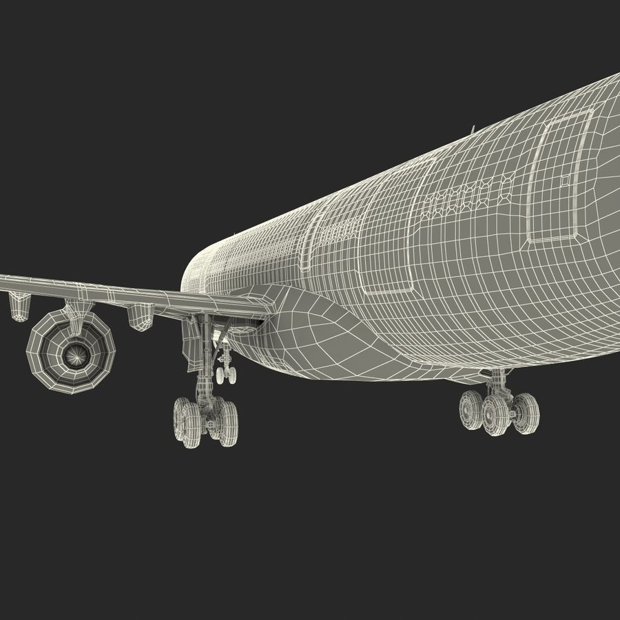 Airbus A330 P2F Cathay Pacific Arma royalty-free 3d model - Preview no. 53