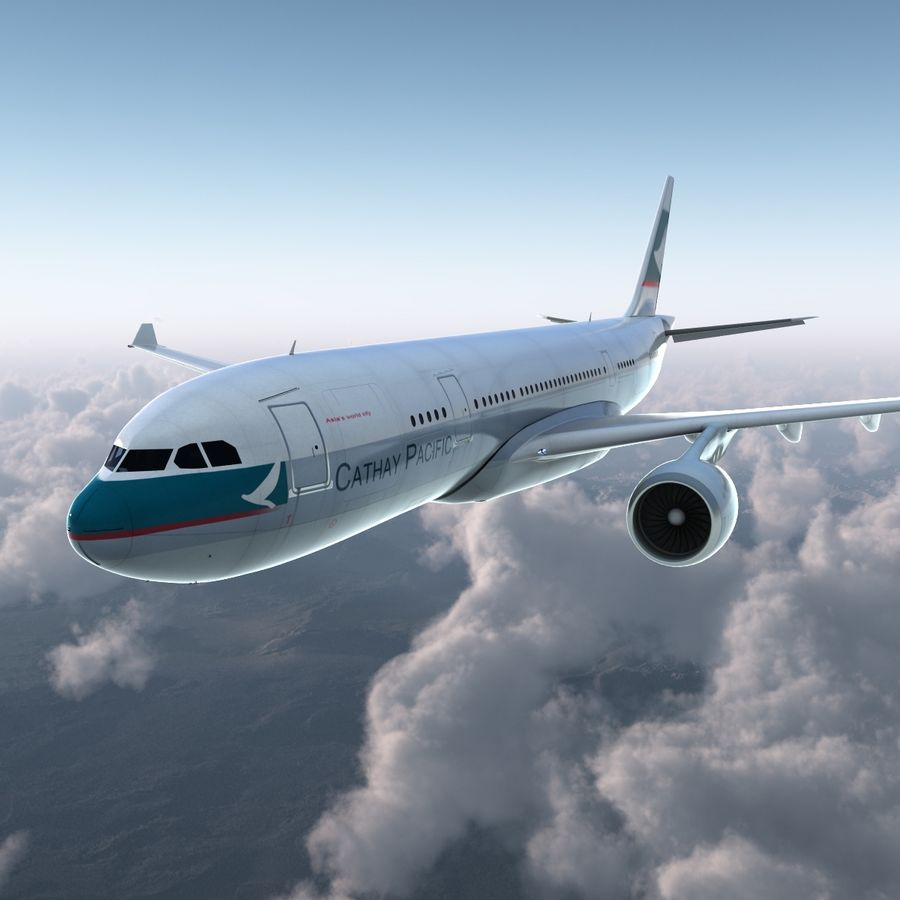 Airbus A330 P2F Cathay Pacific Arma royalty-free 3d model - Preview no. 9