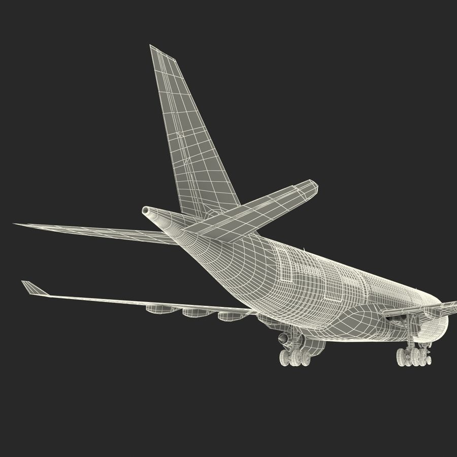Airbus A330 P2F Cathay Pacific Arma royalty-free 3d model - Preview no. 51