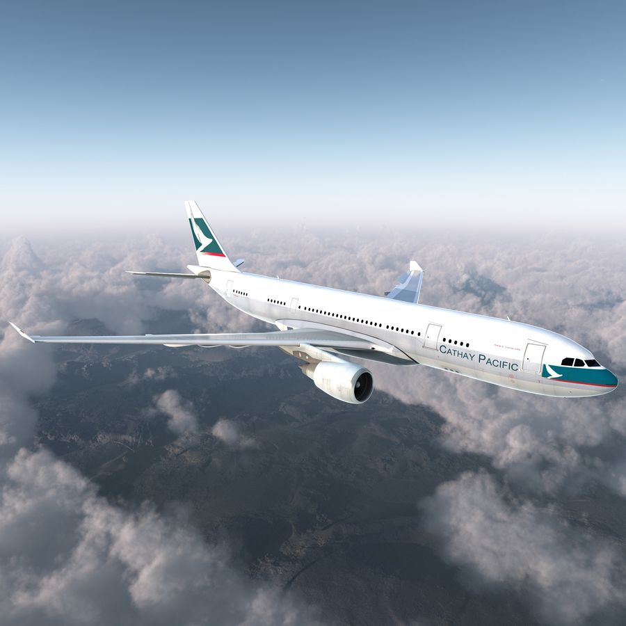 Airbus A330 P2F Cathay Pacific Arma royalty-free 3d model - Preview no. 4