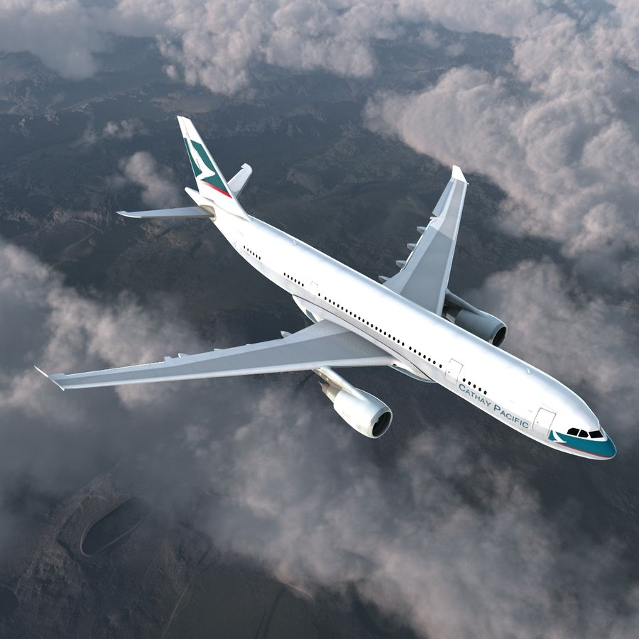 Airbus A330 P2F Cathay Pacific Arma royalty-free 3d model - Preview no. 6
