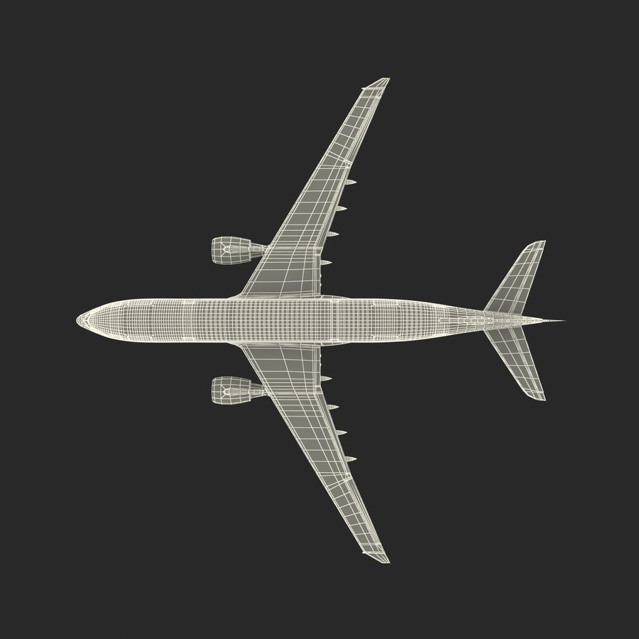 Airbus A330-P2F Cathay Pacific 3D Modeli royalty-free 3d model - Preview no. 31