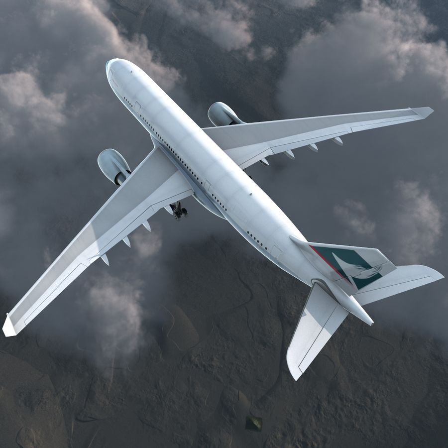 Airbus A330-P2F Cathay Pacific 3D Modeli royalty-free 3d model - Preview no. 6