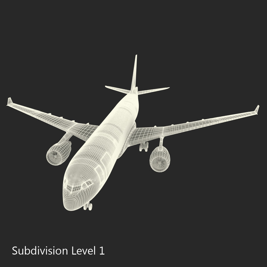Airbus A330-P2F Cathay Pacific 3D Modeli royalty-free 3d model - Preview no. 27