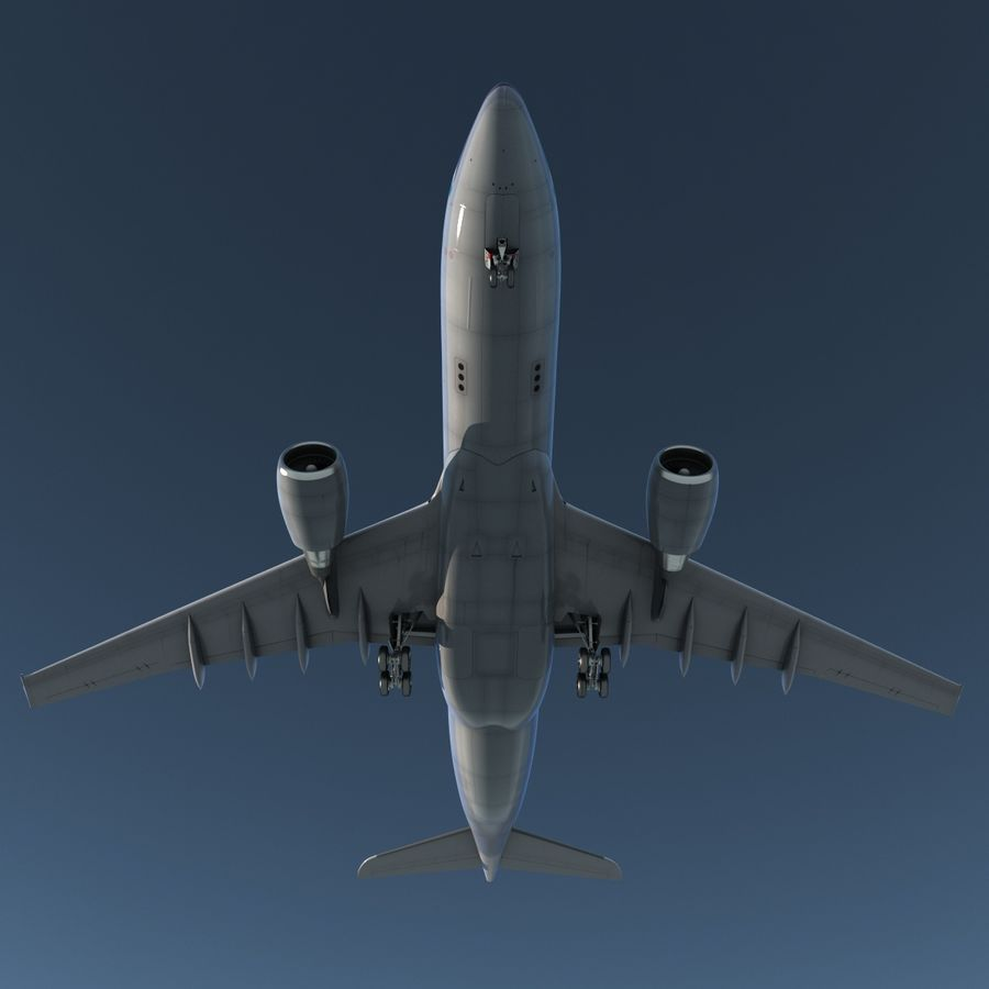 Airbus A330-P2F Cathay Pacific 3D Modeli royalty-free 3d model - Preview no. 7