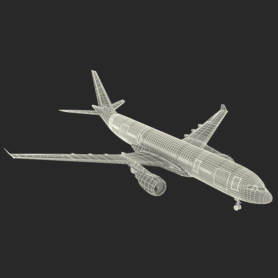 Airbus A330-P2F Cathay Pacific 3D Modeli royalty-free 3d model - Preview no. 33