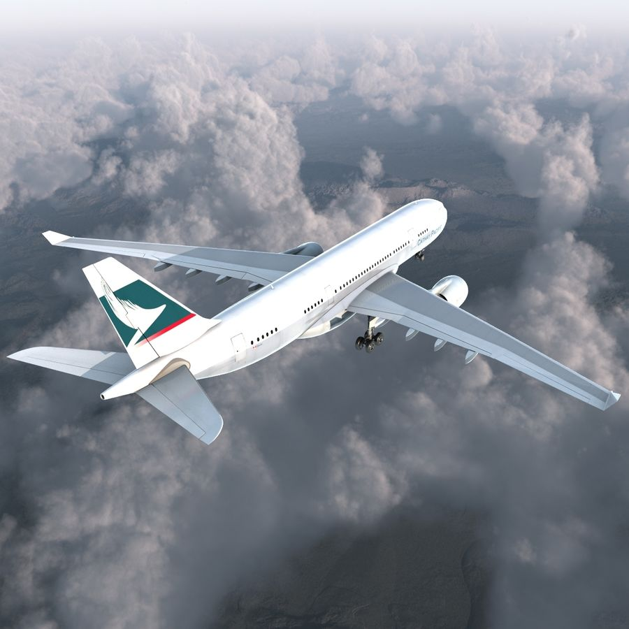 Airbus A330-P2F Cathay Pacific 3D Modeli royalty-free 3d model - Preview no. 5