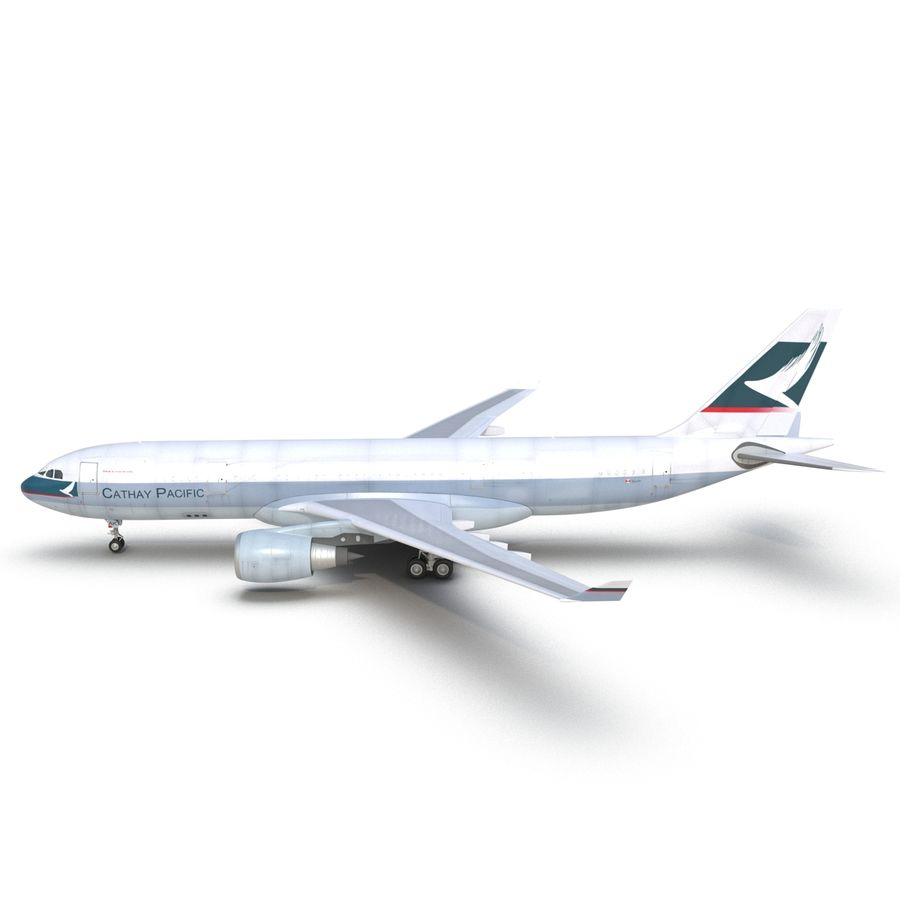 Airbus A330-P2F Cathay Pacific 3D Modeli royalty-free 3d model - Preview no. 9
