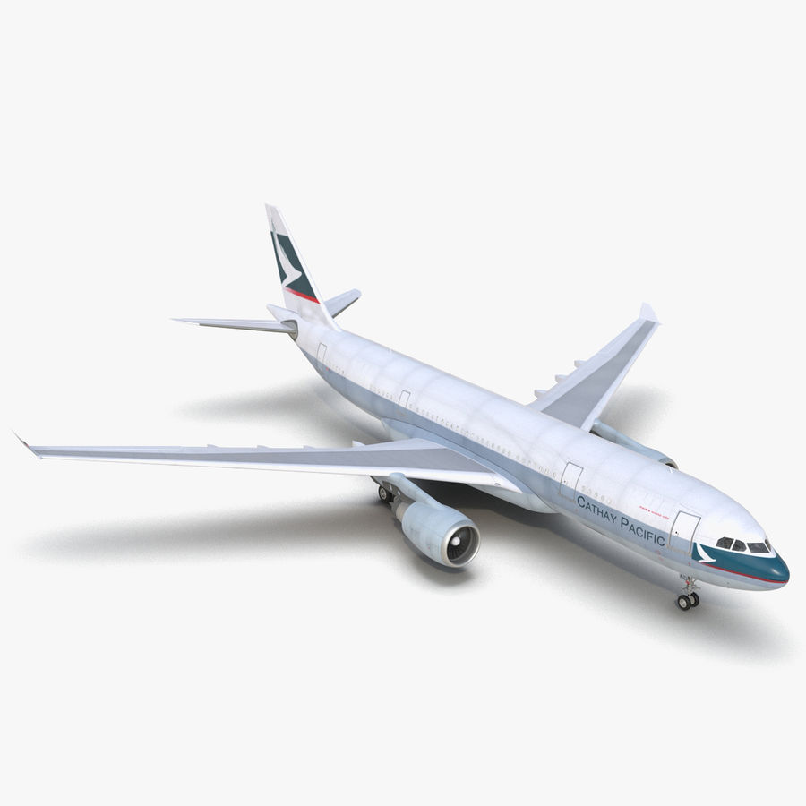 Airbus A330-P2F Cathay Pacific 3D Modeli royalty-free 3d model - Preview no. 1