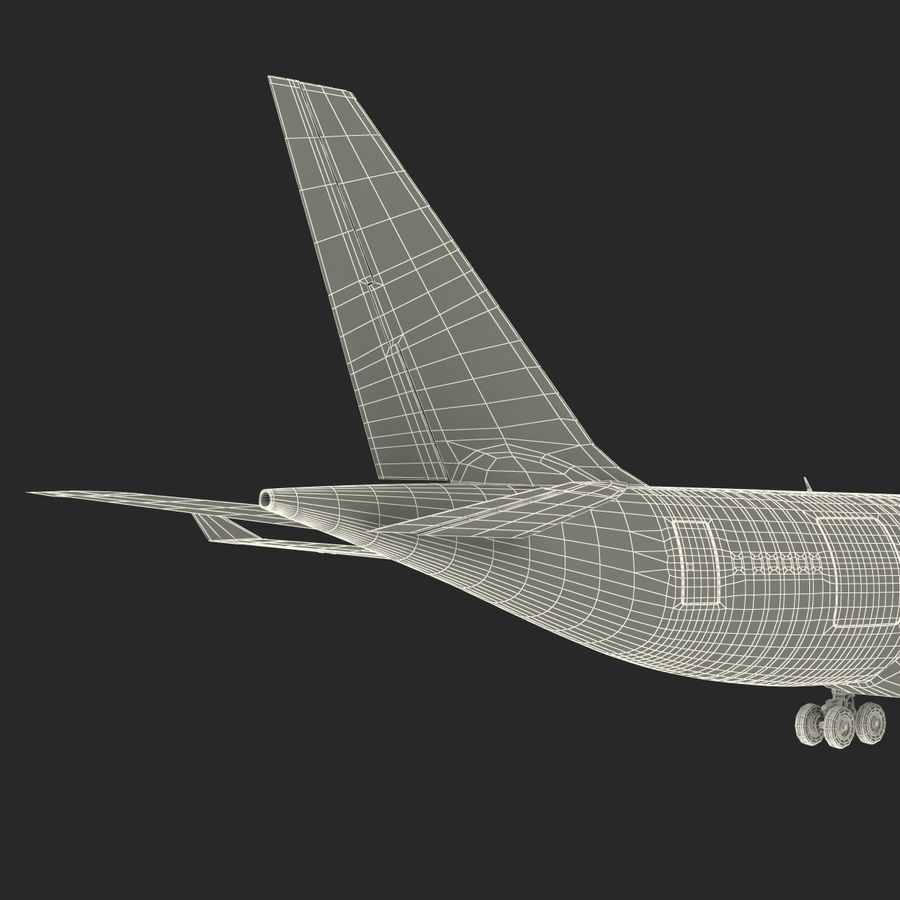 Airbus A330-P2F Cathay Pacific 3D Modeli royalty-free 3d model - Preview no. 37
