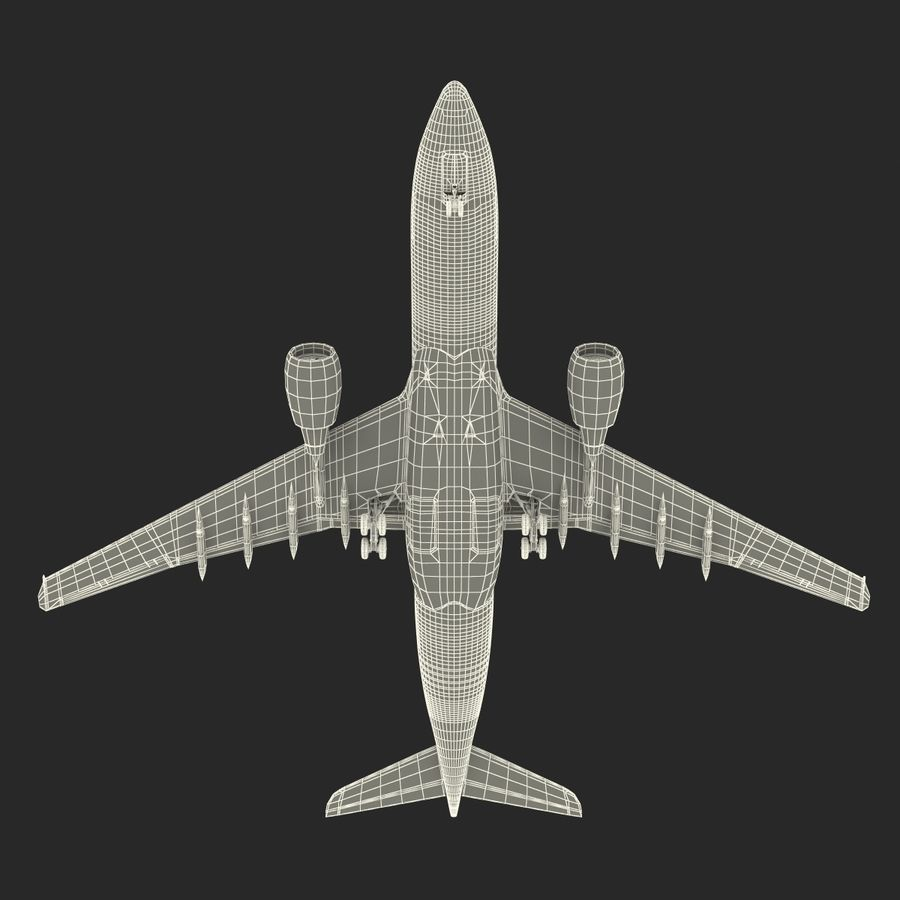 Airbus A330-P2F Cathay Pacific 3D Modeli royalty-free 3d model - Preview no. 35