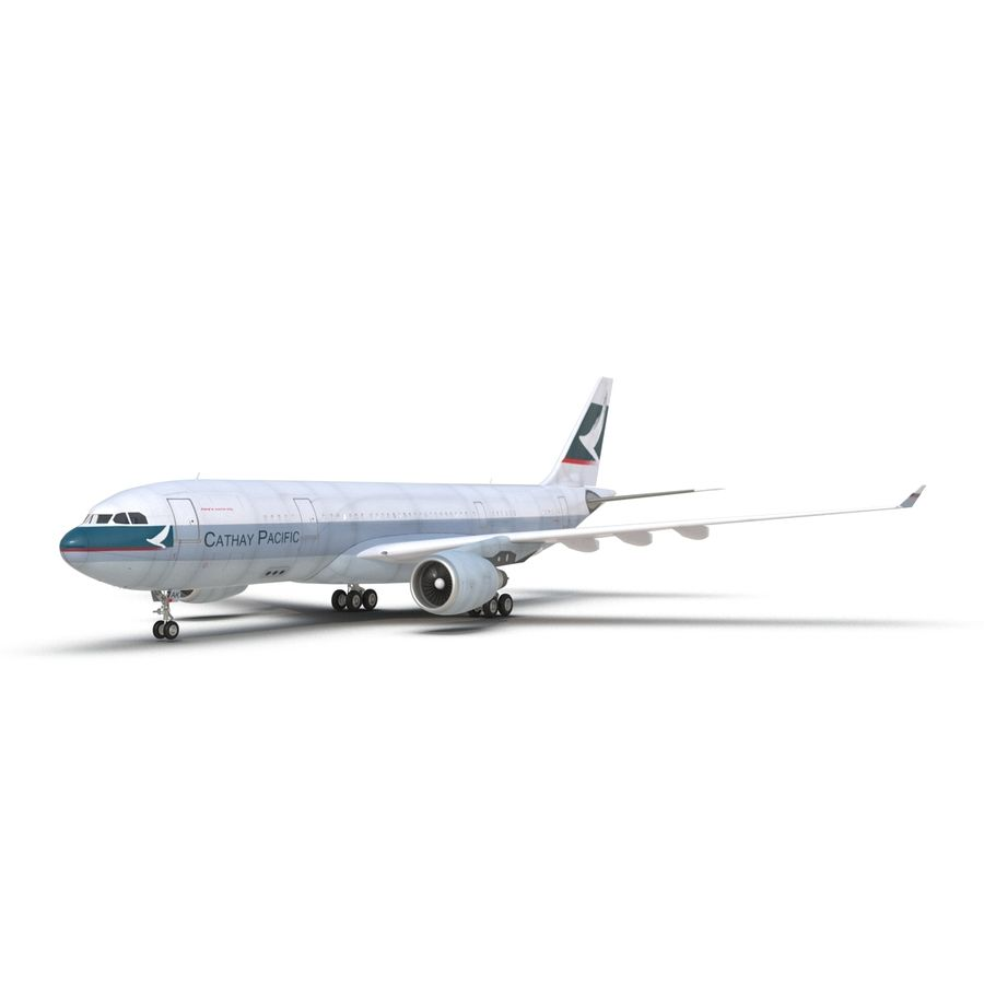 Airbus A330-P2F Cathay Pacific 3D Modeli royalty-free 3d model - Preview no. 10