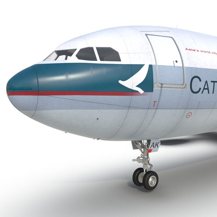 Airbus A330-P2F Cathay Pacific 3D Modeli royalty-free 3d model - Preview no. 24