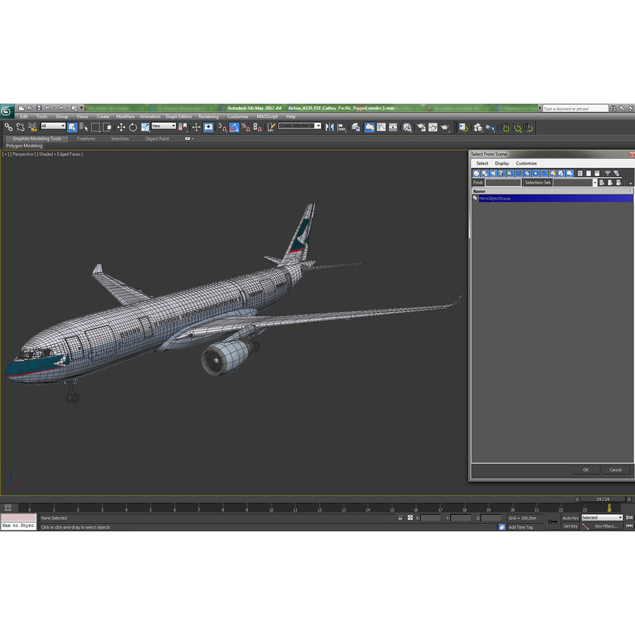 Airbus A330-P2F Cathay Pacific 3D Modeli royalty-free 3d model - Preview no. 30