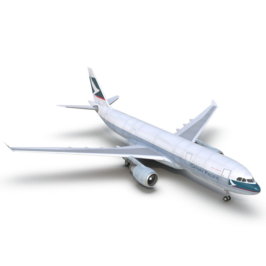 Airbus A330-P2F Cathay Pacific 3D Modeli royalty-free 3d model - Preview no. 14