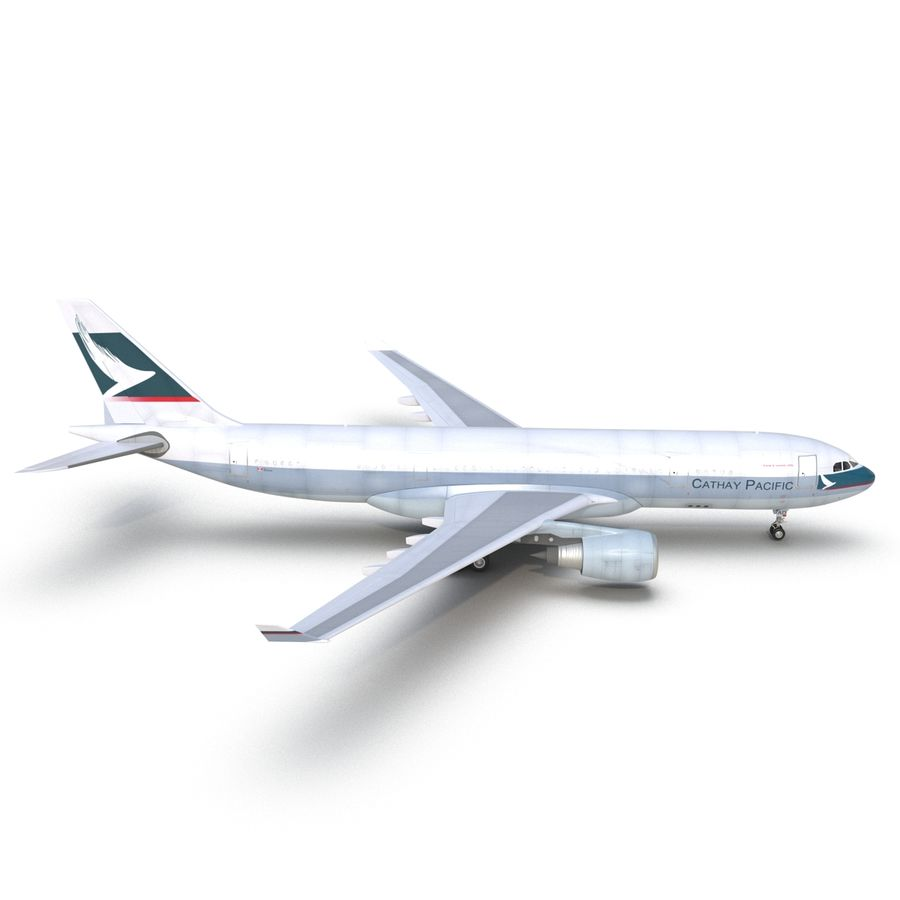 Airbus A330-P2F Cathay Pacific 3D Modeli royalty-free 3d model - Preview no. 12
