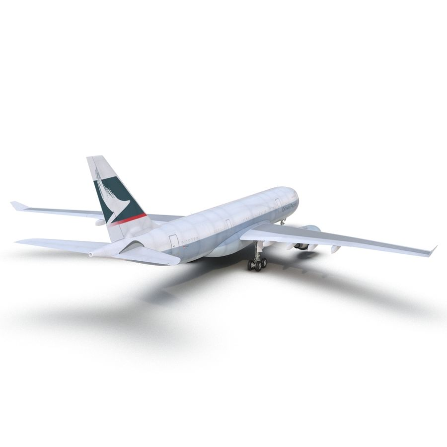 Airbus A330-P2F Cathay Pacific 3D Modeli royalty-free 3d model - Preview no. 13