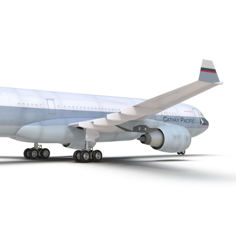 Airbus A330-P2F Cathay Pacific 3D Modeli royalty-free 3d model - Preview no. 18
