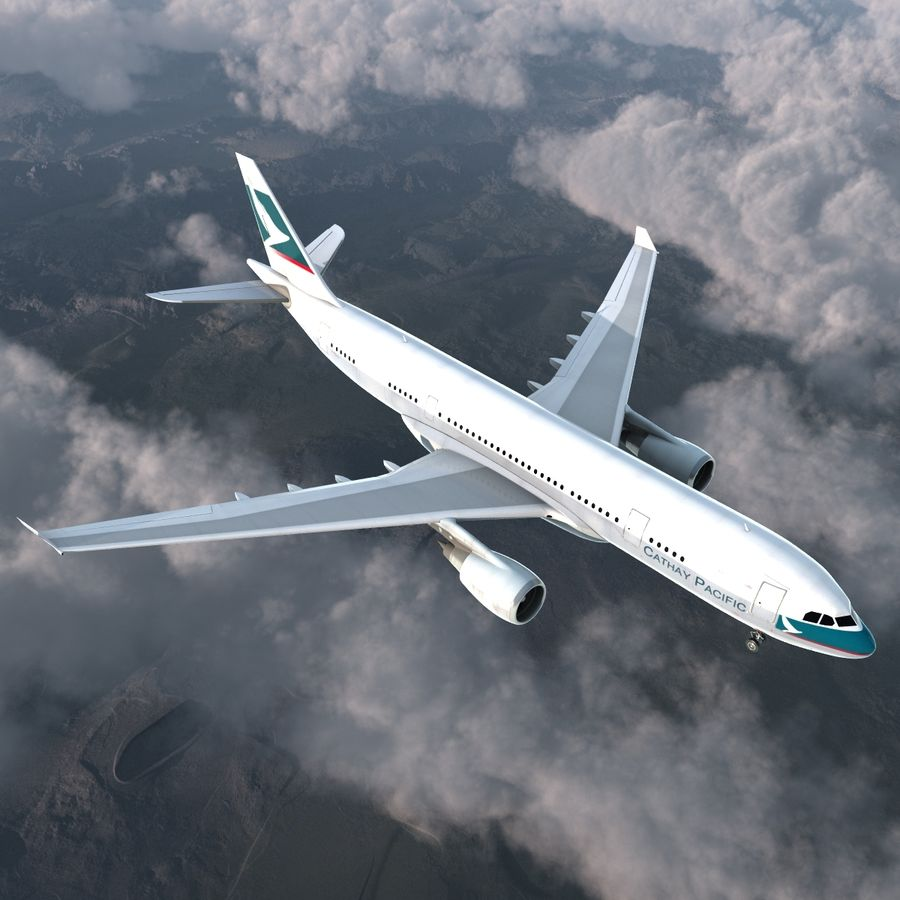 Airbus A330-P2F Cathay Pacific 3D Modeli royalty-free 3d model - Preview no. 4