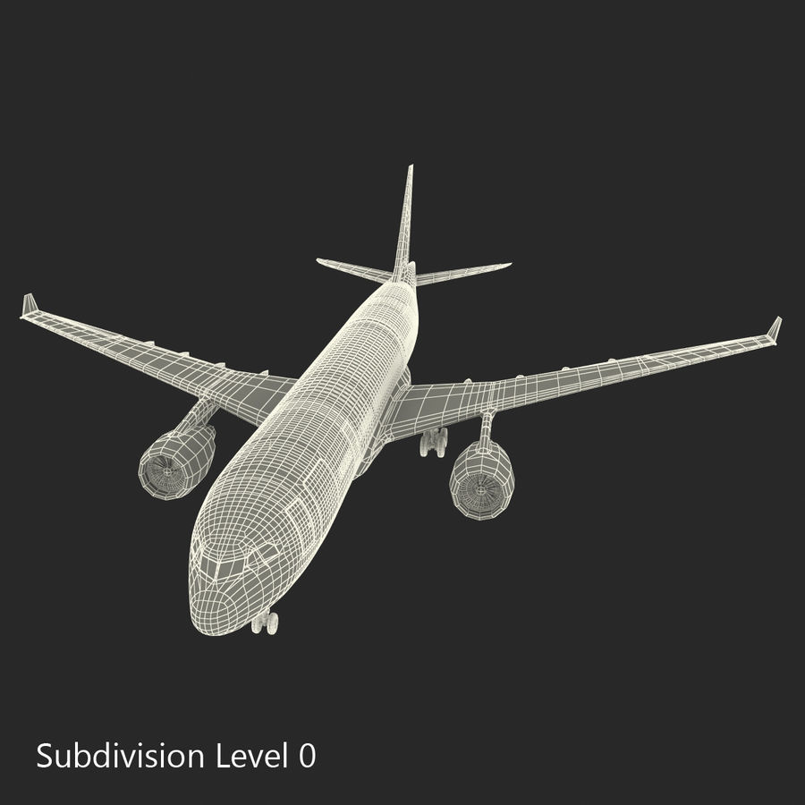 Airbus A330-P2F Cathay Pacific 3D Modeli royalty-free 3d model - Preview no. 26
