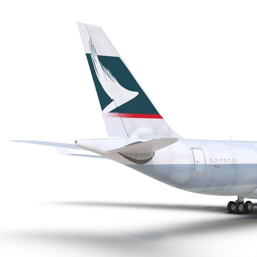 Airbus A330-P2F Cathay Pacific 3D Modeli royalty-free 3d model - Preview no. 19