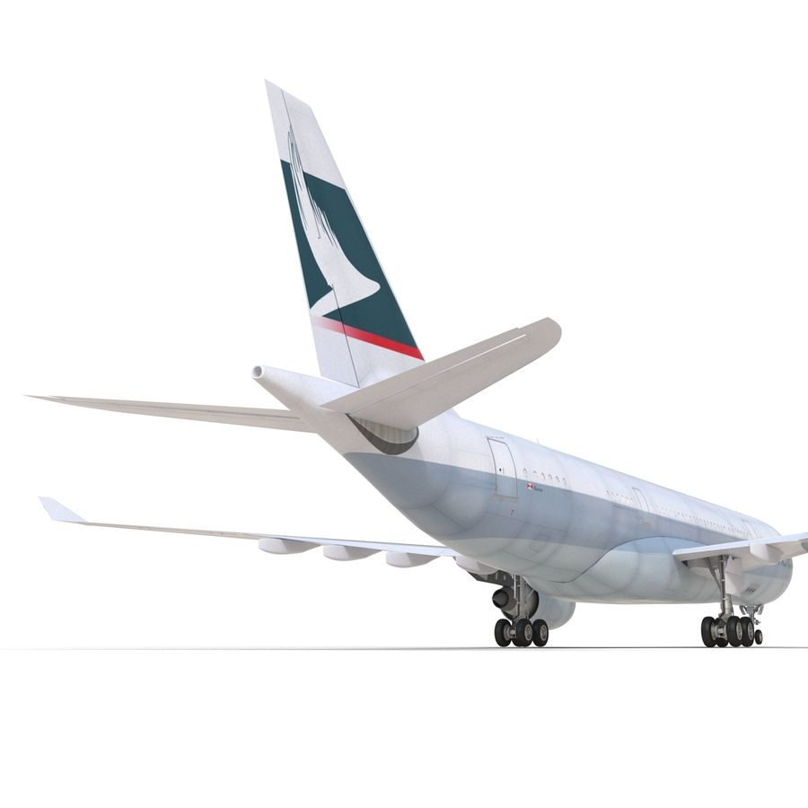 Airbus A330-P2F Cathay Pacific 3D Modeli royalty-free 3d model - Preview no. 22