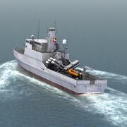 P562巡逻巡洋舰 3d model