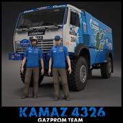 KAMAZ 4326 Gazprom 3d model
