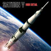 Saturn V Apollo Rocket 3d model