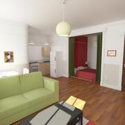 Stüdyo daire 3d model