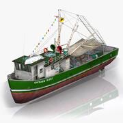 낚시 보트 V2 3d model