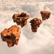 Flying Rocks-pakket en Bonus HDRI-kaart 3d model