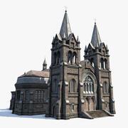 Kathedraal buitenkant 3d model