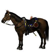 南北戦争の馬 3d model